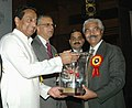 Kamal Nath presenting the EPCES Export Award to Shri O.P. Sharma, Chief Operating Officer, at the presentation of 'EPCES Awards for Export Excellence 2006-07, in New Delhi on February 03, 2009.jpg