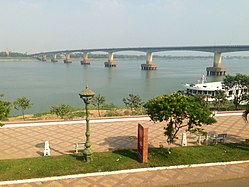 first bridge to link both sides of the Mekong River in Cambodia