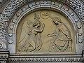 Karlínské náměstí, kostel svatých Cyrila a Metoděje, reliéf nad vstupem - Zvěstování.jpg