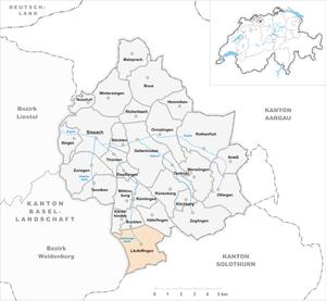Läufelfingen - Image: Karte Gemeinde Läufelfingen 2007