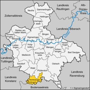 Herdwangen-Schönach - Image: Karte Herdwangen Schönach