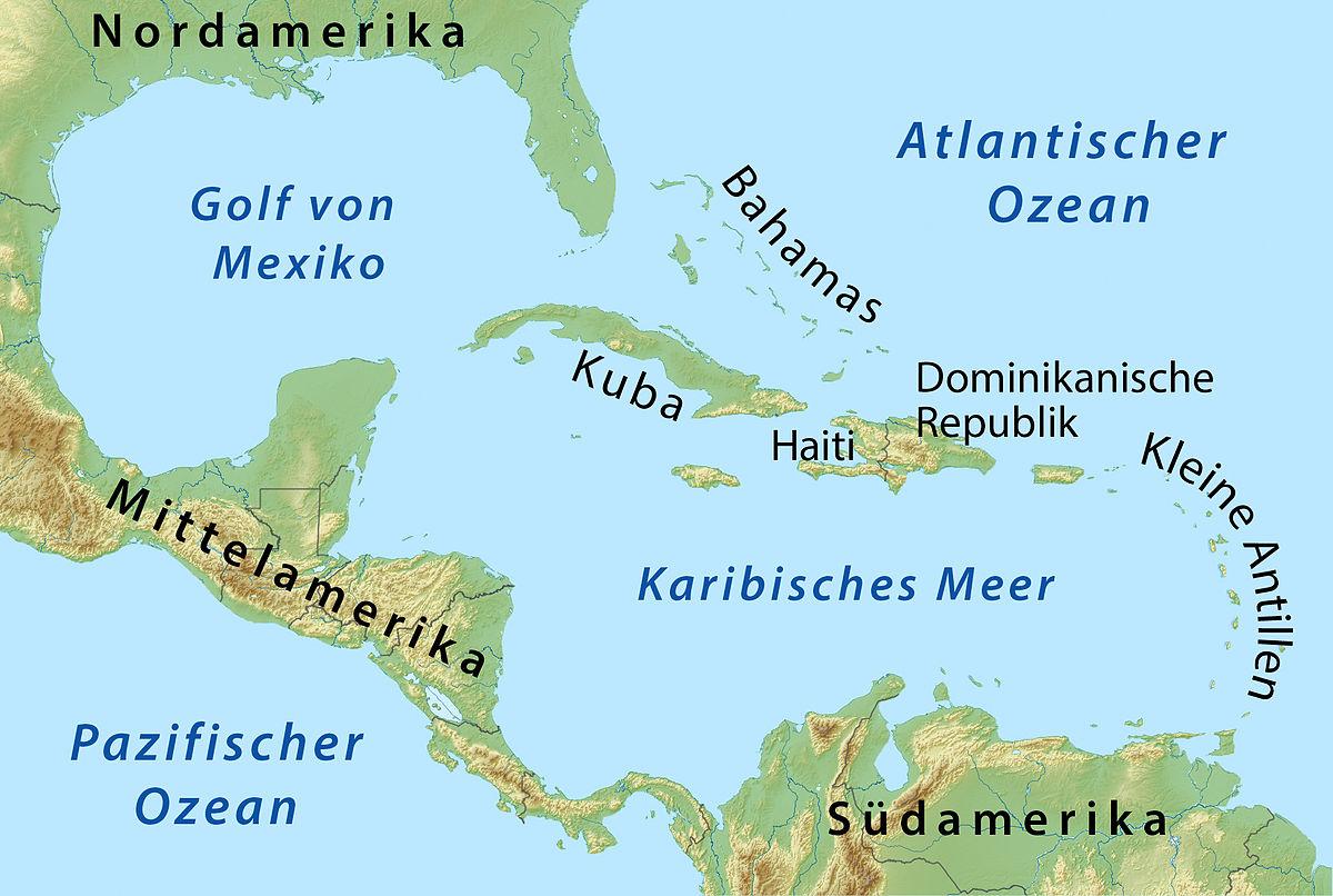 File Karte Karibik Fur Klexikon Jpg Wikimedia Commons