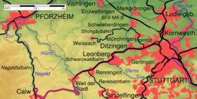 Karte Schwarzwaldbahn Wuerttemberg