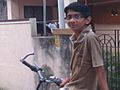 Kaushik Narayanan and a bicycle.jpg