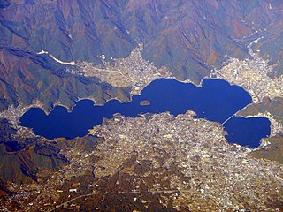 lake in Yamanashi prefecture, Japan