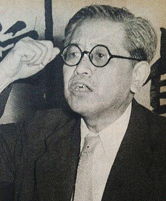 Leader of the Opposition (Japan) - Image: Kawakami Jotaro 1952