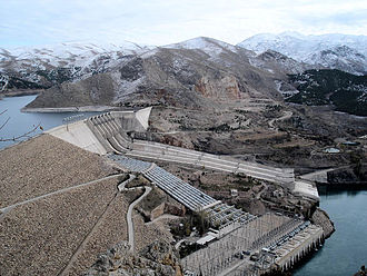 Euphrates - Keban Dam in Turkey, the first dam on the Euphrates after it emerges from the confluence of the Kara Su and the Murat Su