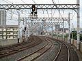 Keihan Nishisanso Station platform - panoramio (4).jpg