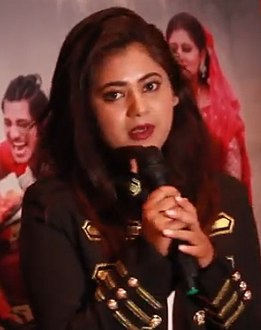 Keki Adhikari at promotional event of Rajja Rani.jpg