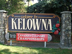 Kelowna - Kelowna's welcome sign