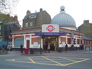 City and South London Railway - Kennington station, the only one of the original station buildings not replaced or substantially altered