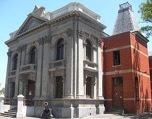 Kensington, Victoria - Former Kensington Town Hall, now community centre, from forecourt