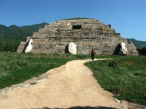 Chinese pyramids - The 'Tomb of the General' in Ji'an, Jilin, China. It was built during the Goguryeo Kingdom (37 BC – 668 AD)