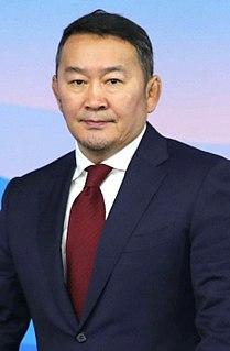 Mongolian President, member of Democratic party
