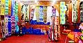 Khotanese silks on display in shop.jpg