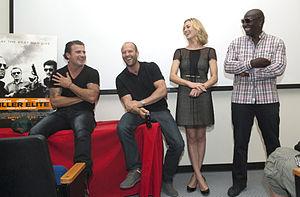 Killer Elite (film) - From left: Dominic Purcell, Jason Statham, Yvonne Strahovski and Adewale Akinnuoye-Agbaje.