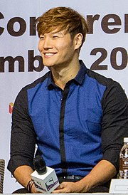 Kim Jong Kook at Malaysia for Running Man Fan Meeting Asian Tour 2014.jpg
