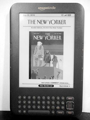 Kindle Store - The New Yorker subscribed on a Kindle Keyboard
