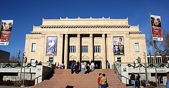 University of Utah - Kingsbury Hall at the Presidents Circle is a center for the performing arts