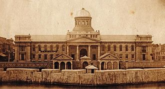 Kingston, Ontario - Kingston City Hall and the Market Battery, 1857