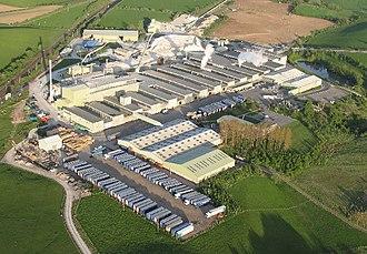 Kirkby Thore - Image: Kirkby Thore Gypsum Plant(Simon Ledingham)May 2005