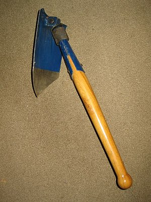"Entrenching tool - The World War II era German ""Klappspaten"" folding spade would set the trend for all future designs"