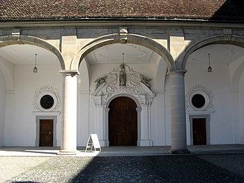Main portal of the Muri monastery church
