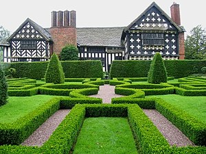 Landscape design - Knot Garden at Little Moreton Hall, Cheshire