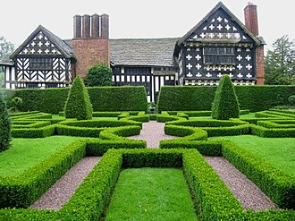 Landscape design - Knot Garden at Little Moreton Hall in Cheshire, England