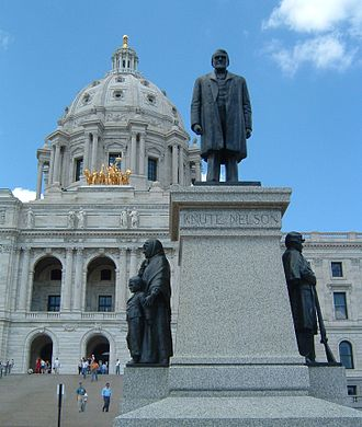 Knute Nelson - A statue of Nelson stands in front of the Minnesota State Capitol