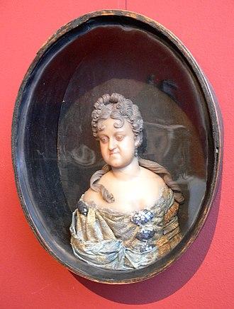 Sophia Charlotte of Hanover - Wax portrait of Sophie Charlotte, c. 1700