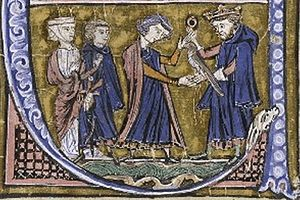Coloman, King of Hungary -  Coloman's meeting with Godfrey of Bouillon