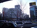 Koriyama station west entrance taxi pool(2008 Feb).jpg