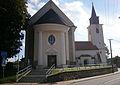 Kostel sv. Bartoloměje (Brno), Žebětín, Brno - jiný pohled.JPG