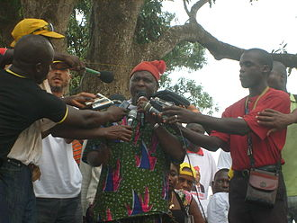 Kumba Ialá - Ialá campaigning at 2009 presidential elections