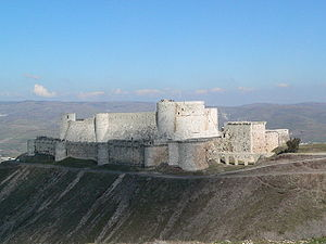 Krak des Chevaliers, Syria. UNESCO World Heritage Site