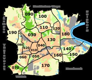 Krefeld - Stadtbezirke in Krefeld