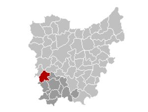 Kruishoutem - Image: Kruishoutem Locatie