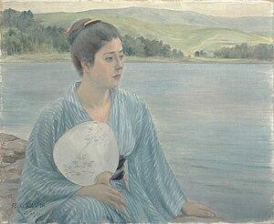 Yōga - Lake Shore (湖畔), by Kuroda Seiki (1897)