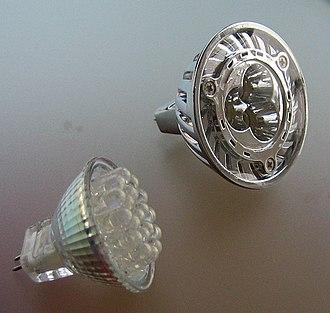Multifaceted reflector - LED MR11, 70 lm/W LED MR16