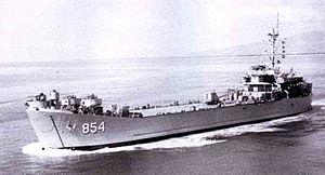 USS Kemper County (LST-854) underway, date and place unknown