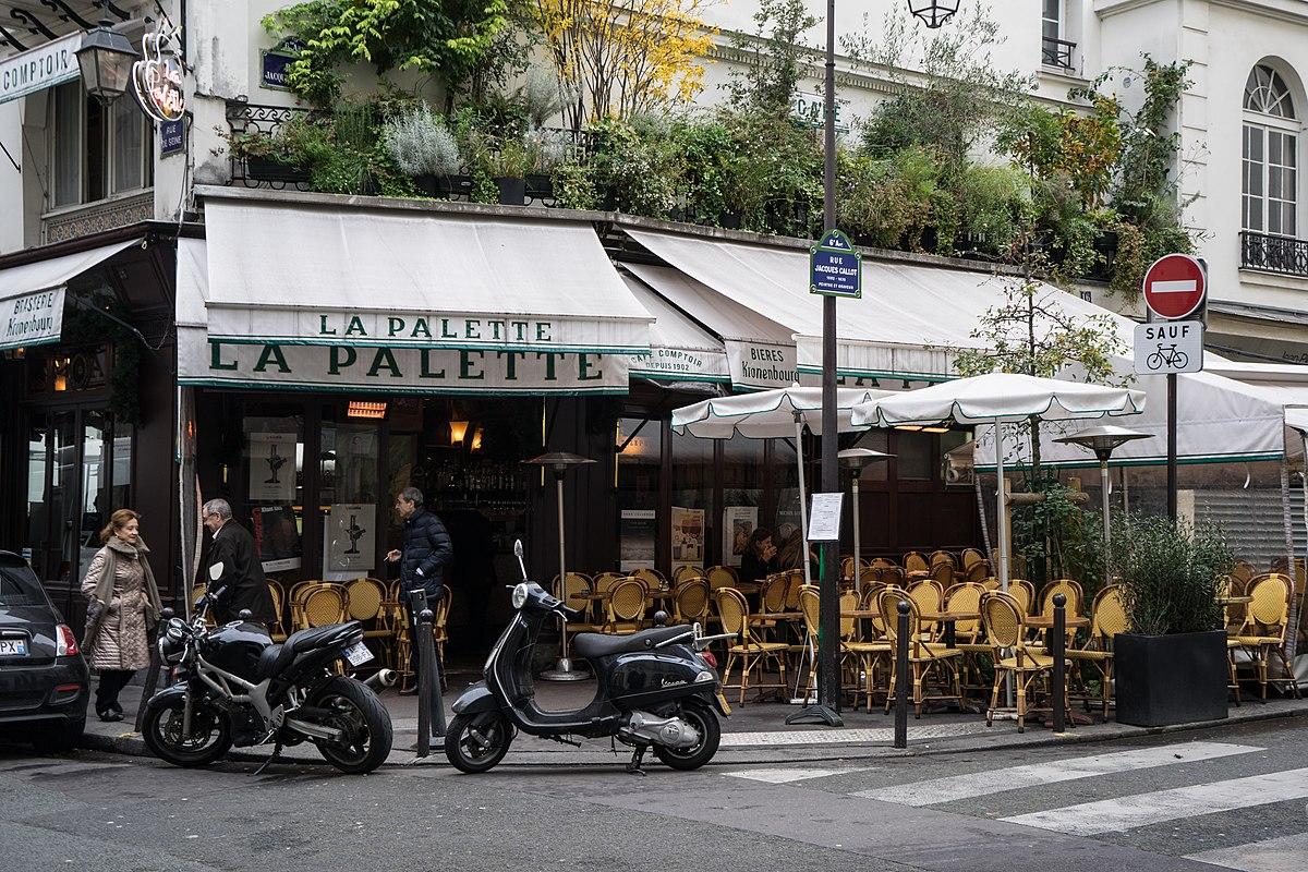 Cafe La Palette Paris France