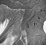 La Perouse Glacier, terminus of Dagelet lobe covered in rocks, September 16, 1966 (GLACIERS 5552).jpg