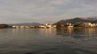 Lachen, Switzerland - Town of Lachen and Lake Zurich