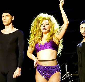 "Applause (Lady Gaga song) - Gaga performing ""Applause"" during her residency shows at Roseland Ballroom"