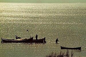 Lagoon Mirim - Fishermen at Lagoon Mirim