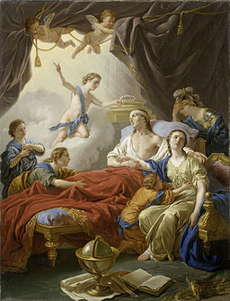 Lagrenee, Louis Jean - Allegory on the Death of the Dauphin - 1765