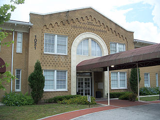 Lakeland, Florida - The John F. Cox Grammar School opened in 1925, now repurposed as the clinic for Lakeland Volunteers in Medicine