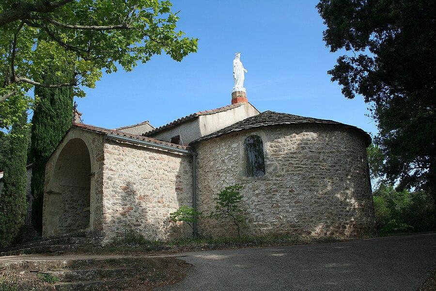 Lamalou-les-Bains (Hérault) - Chapelle ND de Capimont, lieu de dévotion très ancien.