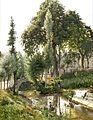 Landskab fra Savoyen med kvinder, som vasker i floden.jpg